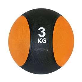 Balón Medicinal De Rebote 3 Kilos Ejercicio Fuerza Fitness