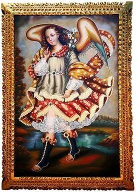 Arcángel Gabriel - Pintura de la Escuela Cusqueña