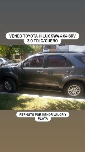 Vento Toyota Hilux srv 3.0 4x4 sw4 impecable con cuero