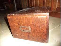 fichero de mesa antiguo de cedro UNICO