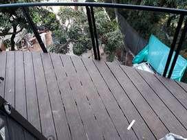 Pisos Deck wpc, laminado, laminado pvc, pérgolas en madera plástica, aluminio o hierro.