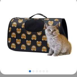 kit x 3 maletín cargador para perros o gatos con ventana pequeña