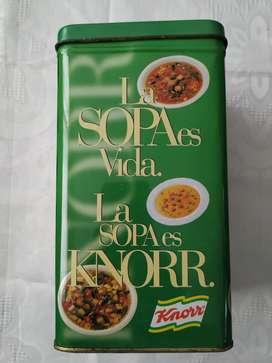 Lata Promo Sopas Knorr Años 90 Aprox. 1,5 Lt Muy Buena