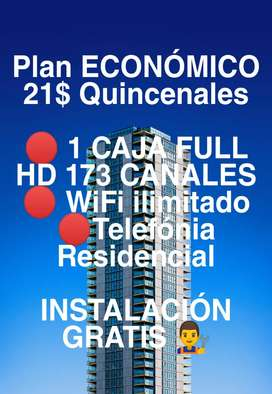 Plan Trío Internet Wifi + Cable HD + Telefónia