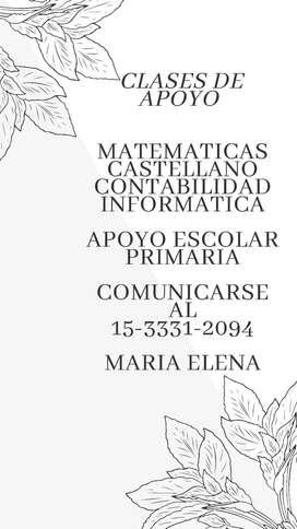 CLASES DE APOYO PRIMARIO Y SECUNDARIO