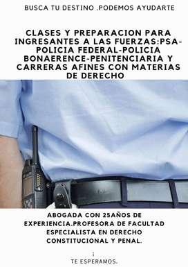 PREPARACION PARA EXAM DE DERECHO PARA ENTRAR EN LAS FUERZAS:PSA-POLICIA BONAERENCE-FEDERAL-DE LA CIUDAD-FUERZA AEREA Y C