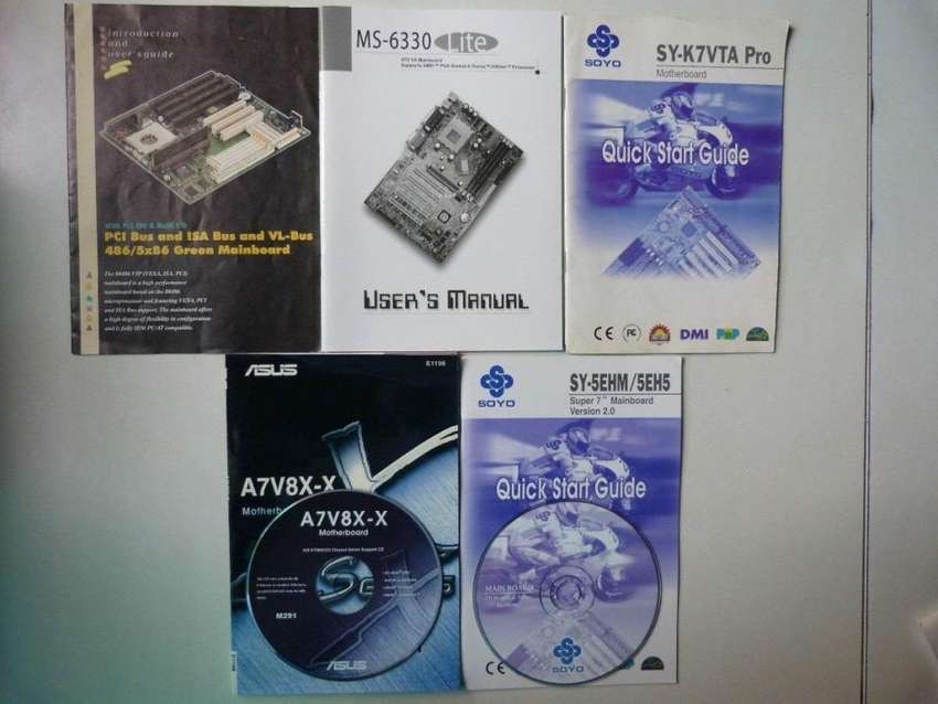 Lote Manuales De Mother, Video, Router, Monitor, etc. y CDs