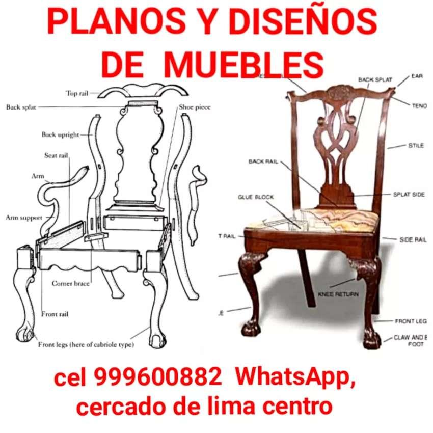Planos y diseños para muebles clasicos 0