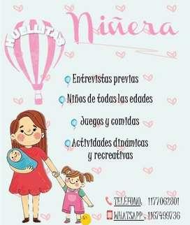 CUIDADORA DE NIÑOS