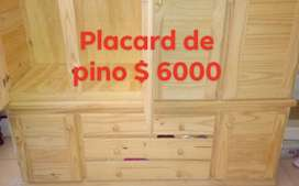 Venta de placard de madera de pino
