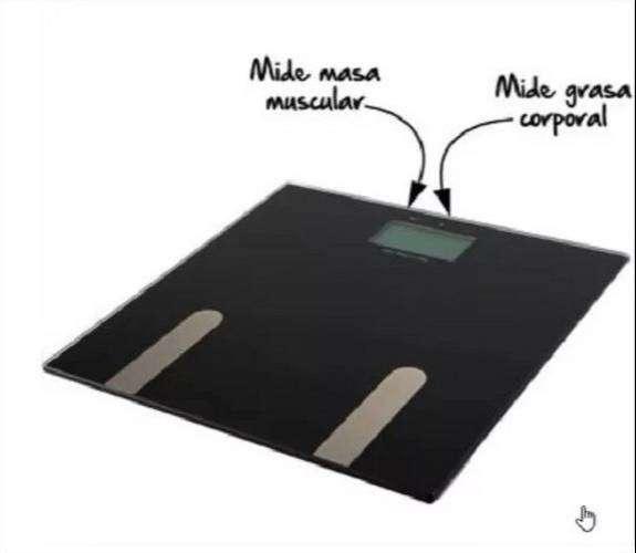 Balanza Digital Bascula Unisex Medidora De Grasa Y Masa Corporal ISC Mide Peso Kg / Lbs, Original 0