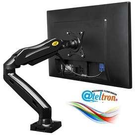 Soportes bases flexibles ergonómicas monitor de computador