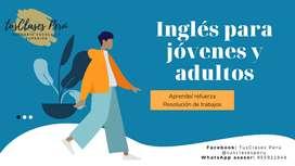 CLASES Y REFUERZOS DE INGLES PARA JOVENES Y ADULTOS
