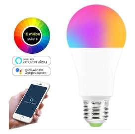 Bombillos Inteligentes Wifi 15w Blanco (amarillo)+RGB