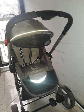 Coche bebesit con silla para carro o porta bebe