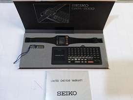 Reloj Original Seiko Data 2000 Teclado, Dock, Sync Manual Caja Operat
