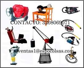 Maquinas concretadoras, parales usados, cercha usada y demas