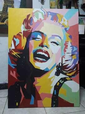 Pintura Marilyn Monroe