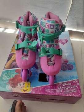 Patines  3 ruedas  2 en uno convertibles Disney Princesas nuevos