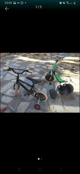 Bici y triciclo