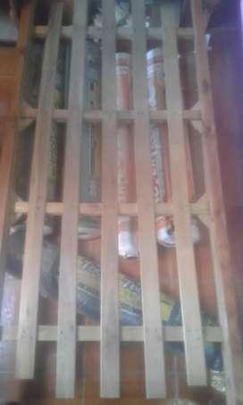 Vendo cama de una plaza de madera