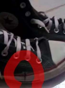 Zapatillas Convers usadas