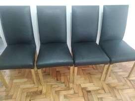 4 sillas vestidas ecocuero talampaya