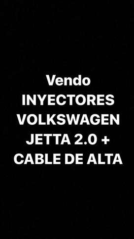Vendo INYECTORES VOLKSWAGEN JETTA 2.0 + CABLE DE ALTA