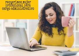 Administradora con experiencia  en ventas