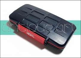 A64 Estuche Porta Tarjetas Memorias 12-sd 12-micro-sd Case