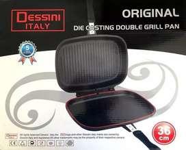 Sarten Dessini Italy Dual Grill Plancha Anti Adherente