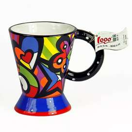 Pocillo Colores Diseño Tipo Brito En Ceramica Regalo Ideal