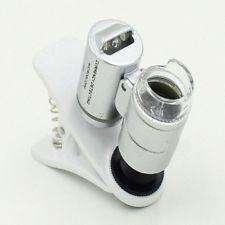 Microscopio 3LEDs Lupa Lente Celular Smartphone Led 60X Optical Zoom