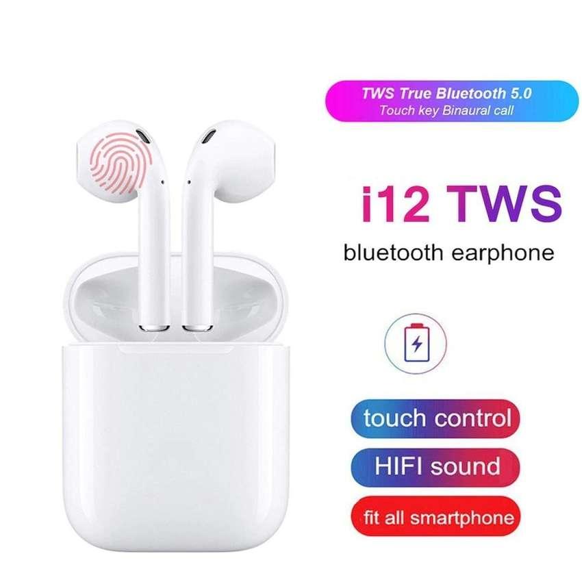 Audifonos Auriculares Inalambricos Bluetooth 5.0 i12 Aripods TACTILES PEQUEÑOS Manos libres 0