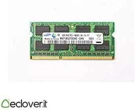RAM ddr 3 4gb 12800 para portátil