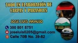 ELABORACIÓN DE CARPAS Y PARASOLES.