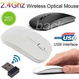 Mouse Inalambrico Delgado Para Windows 10, Mac, Ios, Android