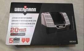Cargador de bateria marca uberman  nuevo