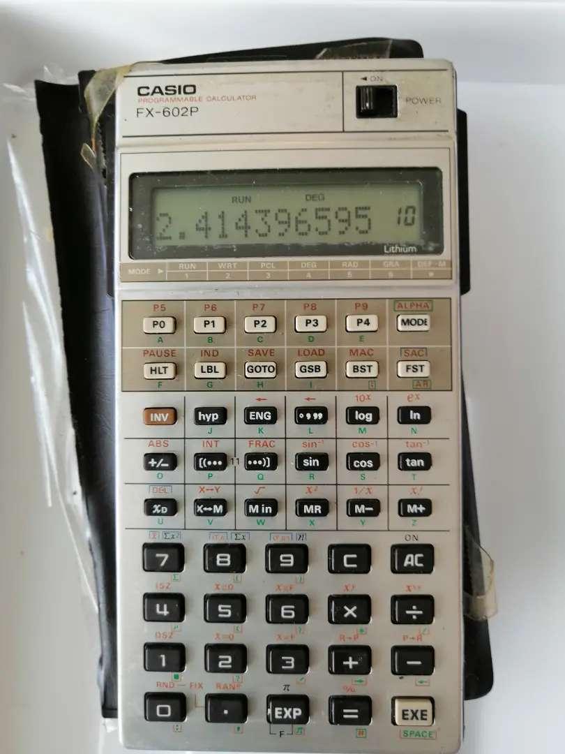 calculadora CasioFx-602p  programable 0