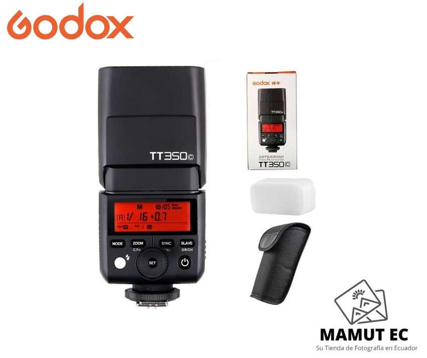 Flash Godox Thinklite Tt350 C Ttl Hss Para Canon + Difusor 0