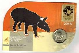 blister tapir andino moneda colección