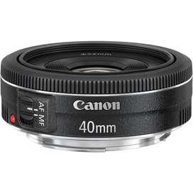 Lente Canon EF 40mm F2.8 STM Nuevo Sellado en Caja + filtro UV