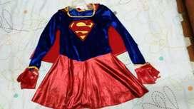 Disfraz de super chica talla 4-6 americano