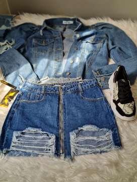 Hermosas faldas de jean