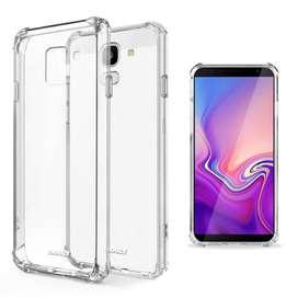 Funda TPU Termoplastico Transparente o negra Reforzada para Samsung J4 2018 J4 Plus J6 J6 Plus