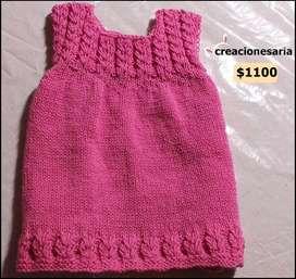 Vestido tejido antialérgico para bebés -creacionesaria