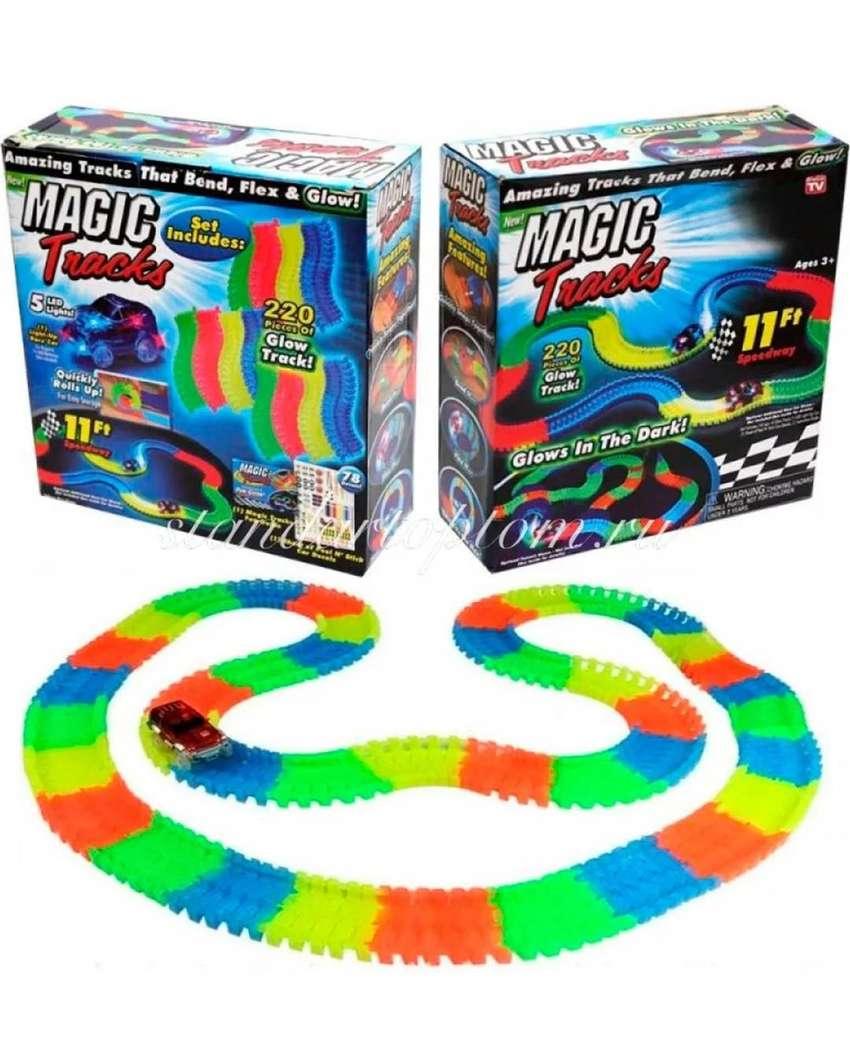 Pista De Carros Flexible Magic Tracks Car 220 Piezas 0