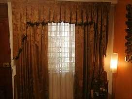 2 cortinas con tules