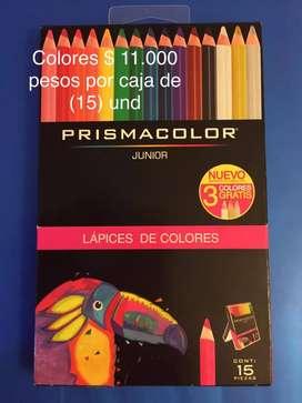 Colores, crayolas, tijeras y mas útiles escolares