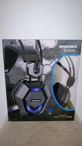 Auricular Gamer Micronics Ludico MIC HG801R